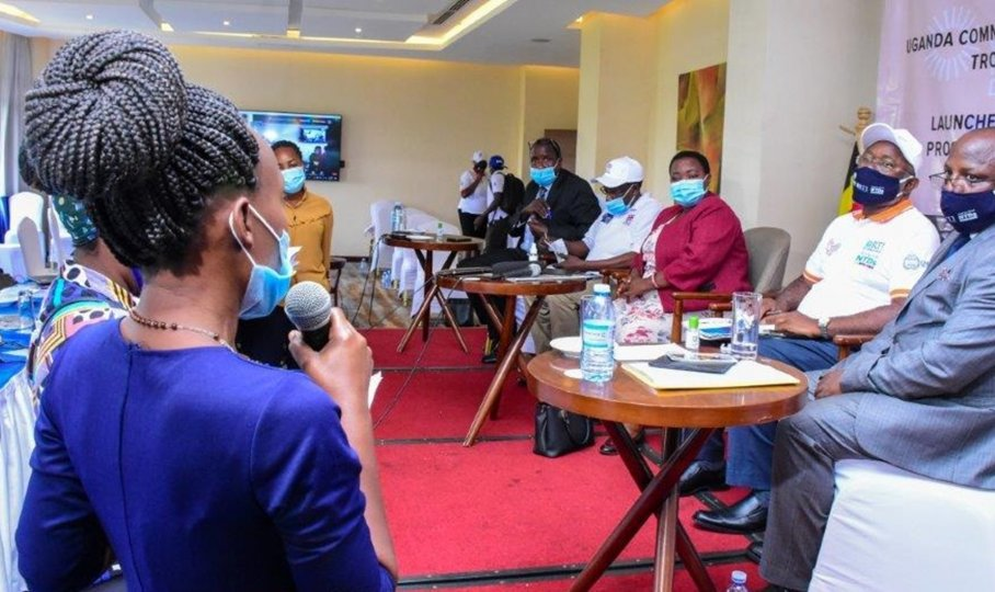 A press briefing is held to announce the launch of Uganda's sustainability plan for NTDs