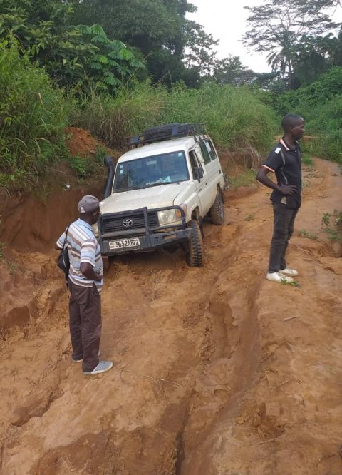 Trachoma surveyors in the DRC face incredibly tough terrain and logistical challenges.
