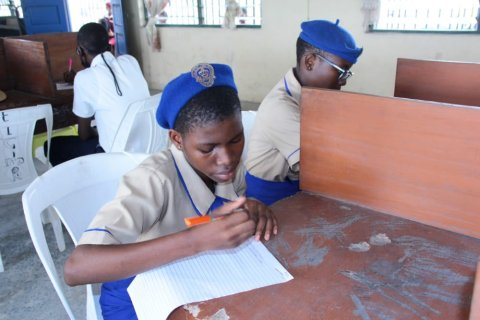 Students write essays on neglected tropical diseases as part of the World NTD Day essay competition in Cross River State, Nigeria