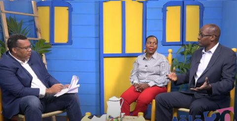 Representatives from the Haiti Ministry of Health and Population appear on a talk show on Télé20.